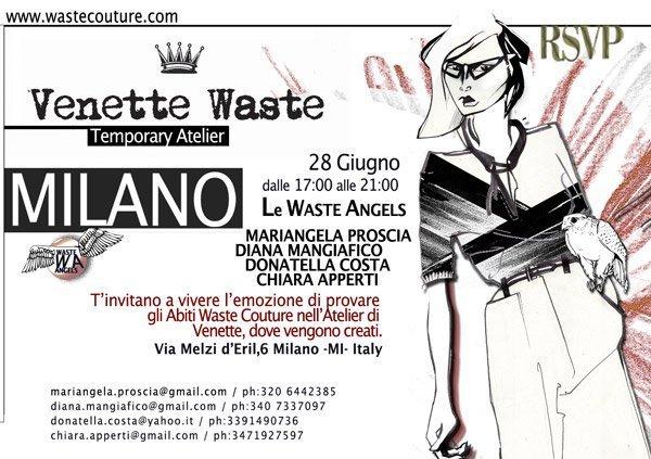Atelier 28 giugno Waste Couture: un fumetto, un sogno e bellissimi abiti!