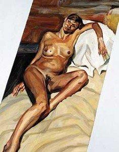 kate moss 2002 235x300 Voglio che la pittura sia carne Omaggio a Lucian Freud