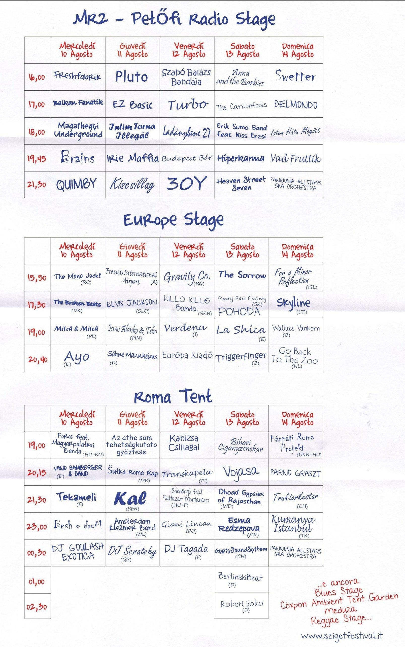 programma31 SZIGET 2011   nel programma ufficiale confermato Prince