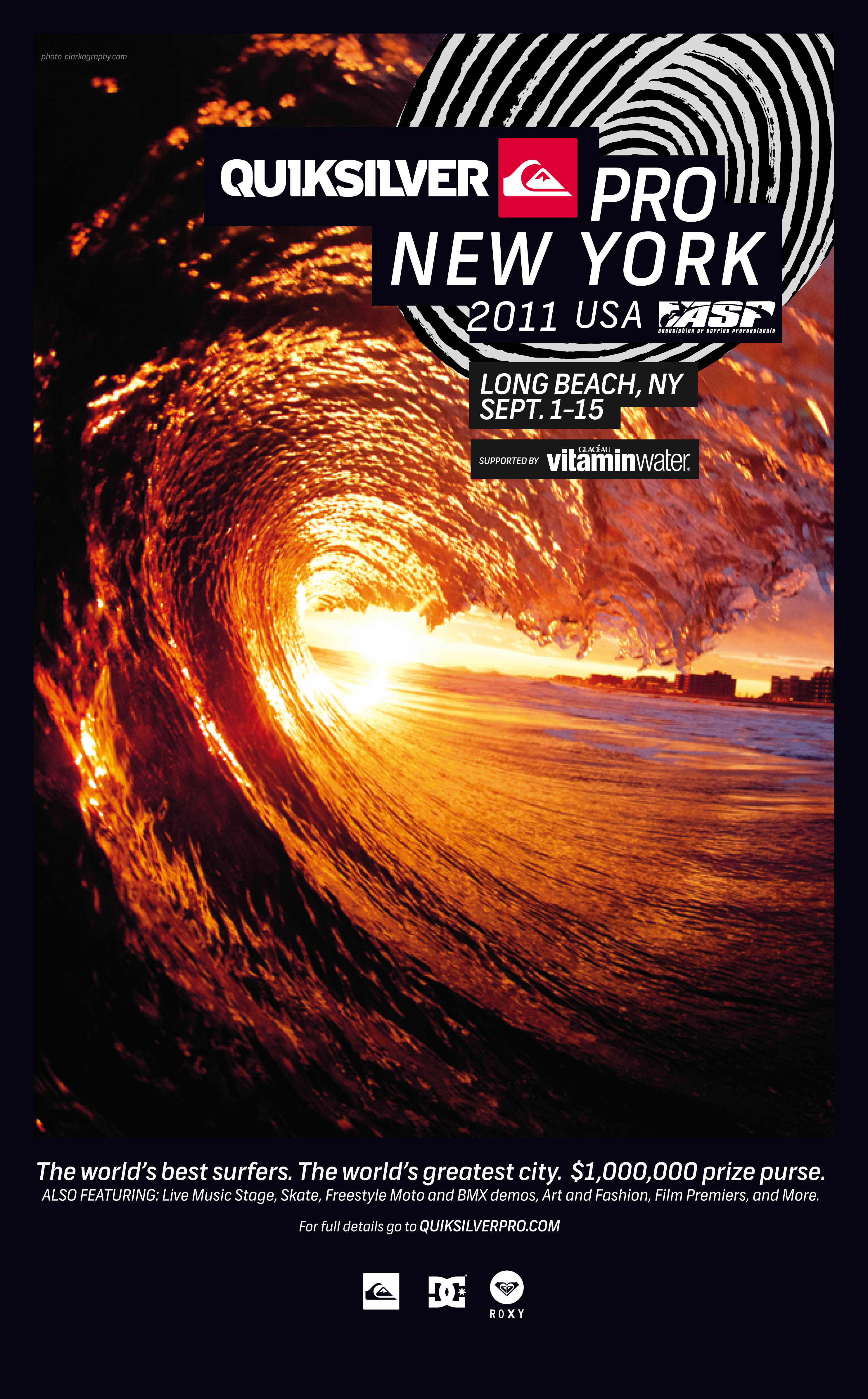 Quiksilver Pro NY poster QUIKSILVER PRO NEW YORK