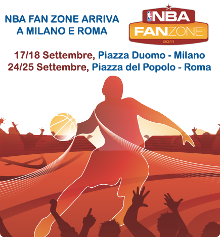 box 01 b NBA FAN ZONE  domani a Milano, basket e cheerleaders!