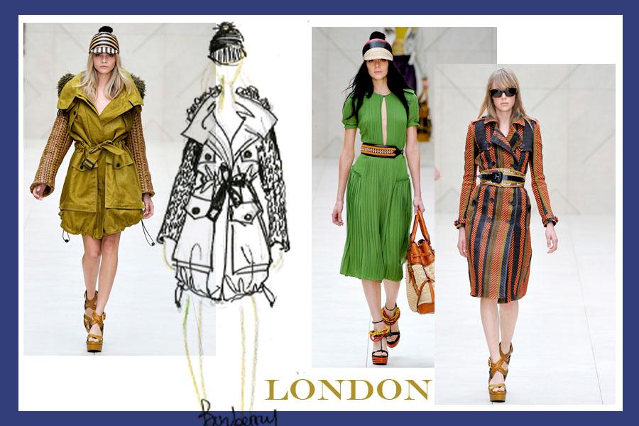 burberry NEW YORK VS LONDON   s/s 2012