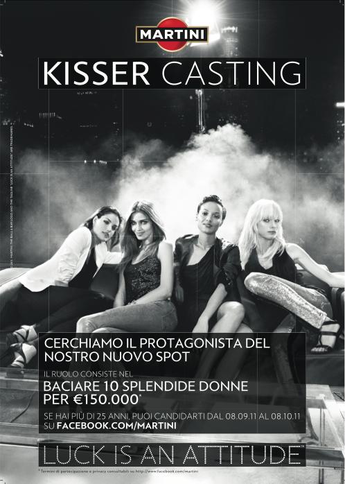 locandina1 KISSER CASTING   Martini cerca un nuovo testimonial