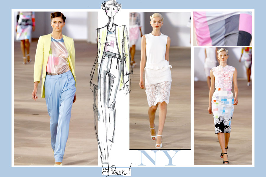 preen NEW YORK VS LONDON   s/s 2012