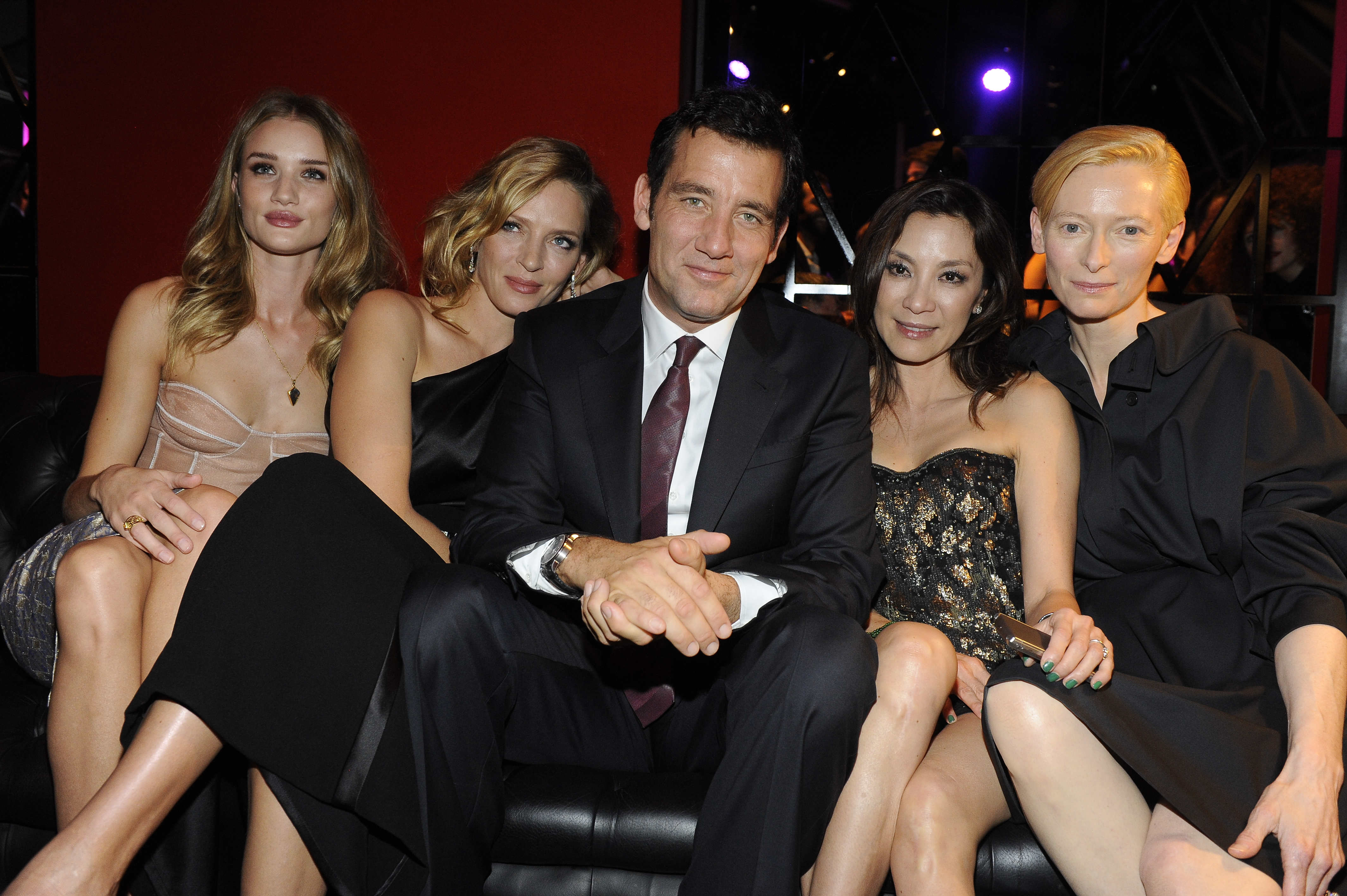 R.Huntington Whiteley Uma Thurma Clive Owen Michelle Yeoh Tilda Swinton VERTU illumina Milano
