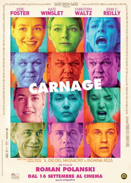 carnage poster italia mid CARNAGE   il film che non ti aspetti