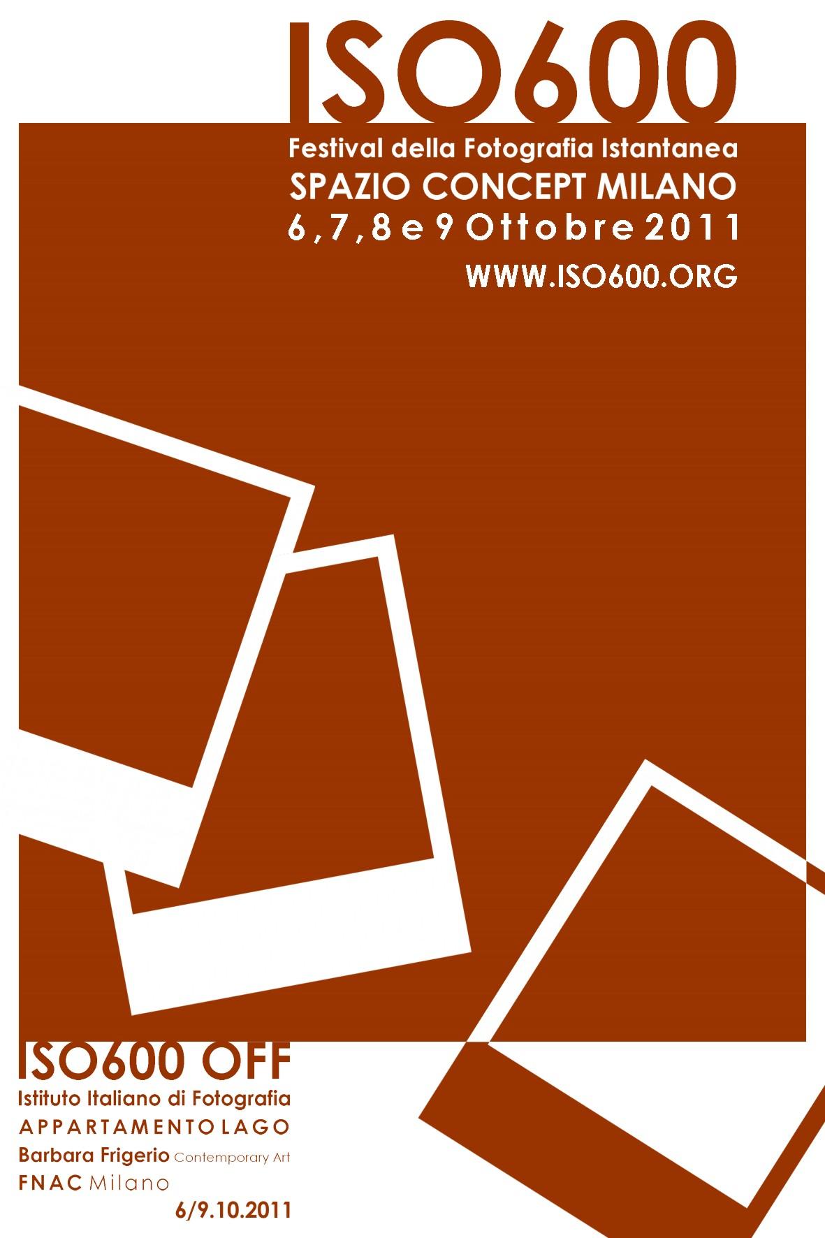 locandina fronte iso600 ISO600   Festival della fotografia istantanea