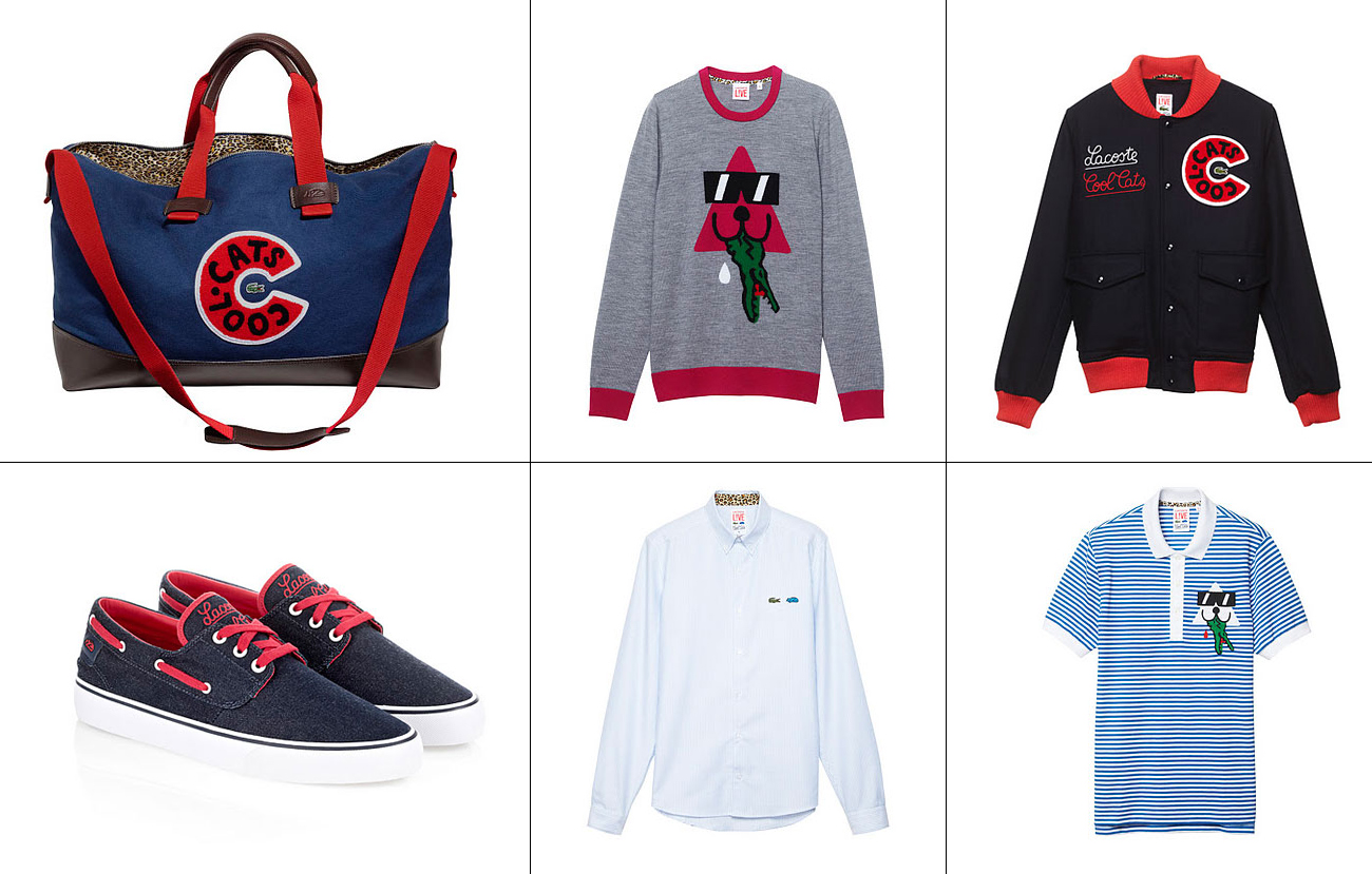 LACOSTE LVE LACOSTE L!VE E COOL CATS   capsule collection