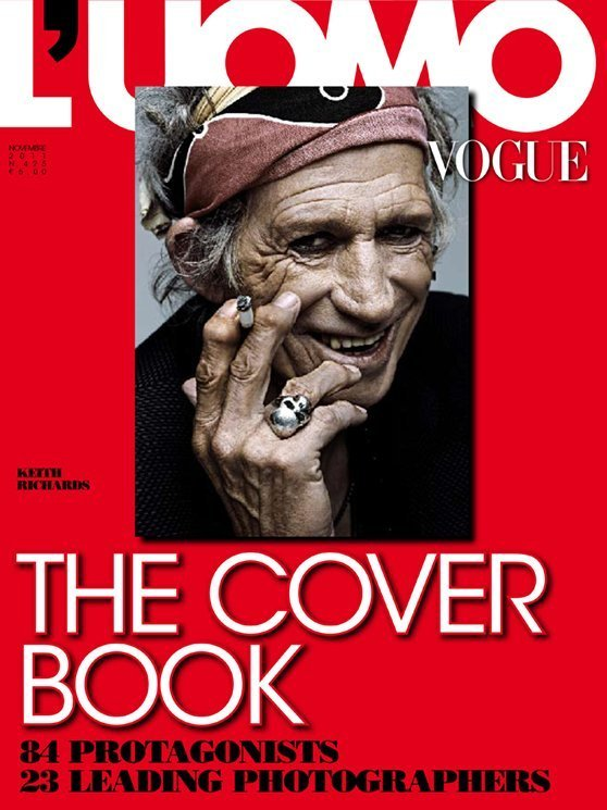 luomo vogue nov 2011 keith richards by francesco carrozzini styled maryam malakpour LUOMO VOGUE   copertine in mostra a Milano