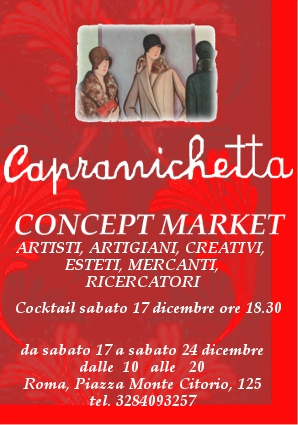 CAPRAN vol anteprima 329x470 541164 FRESCHE IDEE REGALO   Capranichetta concept market Roma