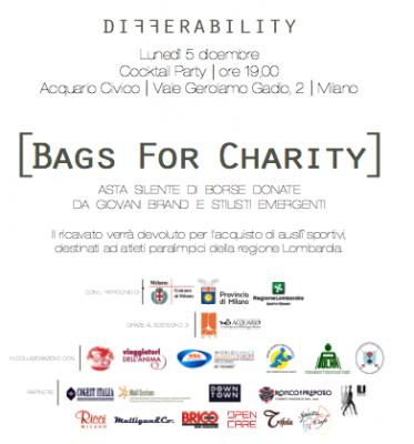 Immagine 2 373x400 BAGS FOR CHARITY   DifferAbility mette le borse allasta