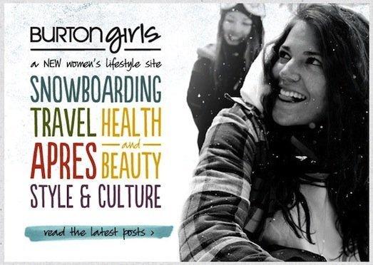 burtongirls BURTONGIRLS.COM   nasce la nuova snowboard community