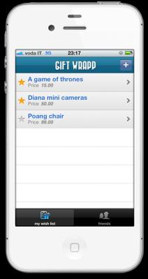 gift list 212x400 GIFT WRAPP   liPhone App dei tuoi desideri