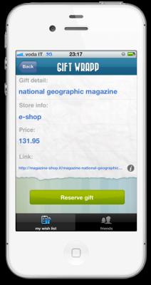 reserve gift 212x400 GIFT WRAPP   liPhone App dei tuoi desideri
