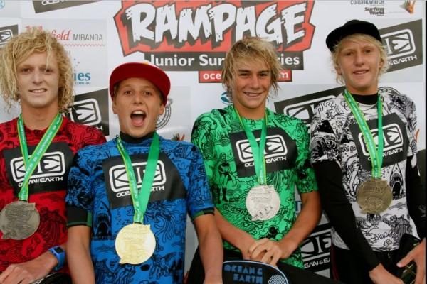 Leonardo Fioravanti ph.SurfingAustralia ReneeMiller 600x400 LEONARDO FIORAVANTI   vittoria al Teenage Rampage
