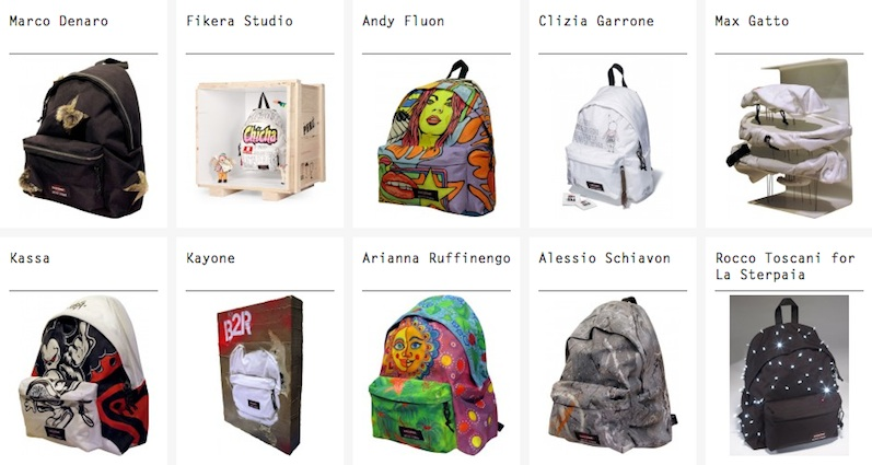attachment1 EASTPAK ARTIST STUDIO   gli zaini diventano arte da Combines XL
