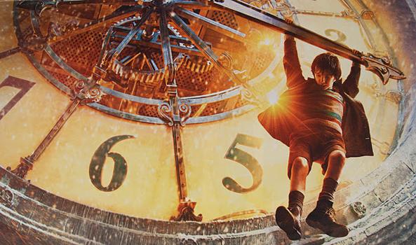 Hugo+Cabret+clock+poster THE ARTIST ED ALTRI FILM   lettere damore al cinema