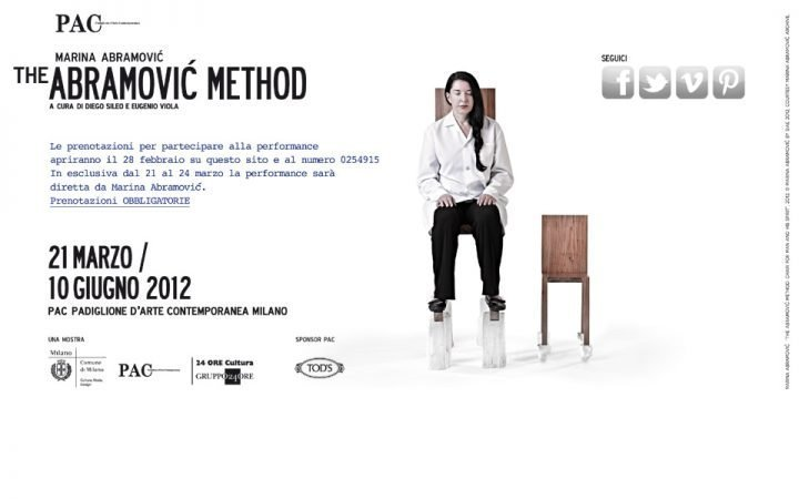 THE ABRAMOVIC METHOD - performance live al PAC di Milano 2