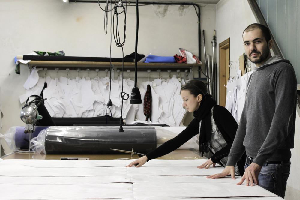 sacchetto armchair working process DIALOGO CON GLI OGGETTI   il design di Spalvieri + Del Ciotto