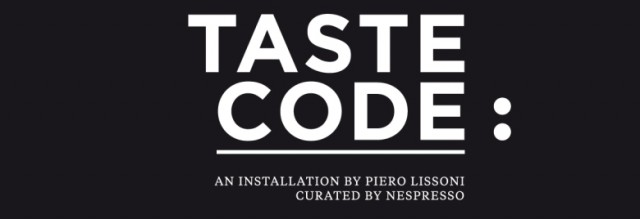 Nespresso TasteCode dett 640x219 DESIGN MEETS FASHION & LIFESTYLE   le collaborazioni per il Salone