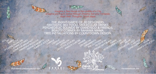 Invito back 600x286 A PLANETARIUM OF PARADISE BIRDS   Chéries Tree House Milan