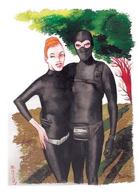 M.Giacon 2012 Diabolik Eva inchiostro e ecoline su carta 40 x 30 cm MASSIMO GIACON   at work, at home, at play!