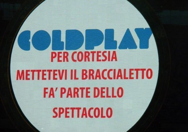 COLDPLAY - video e scaletta del concerto a Torino 5