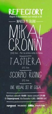 flyer mikal 472x1024 184x400 MIKAL CRONIN   intervista prima del concerto di stasera a Milano
