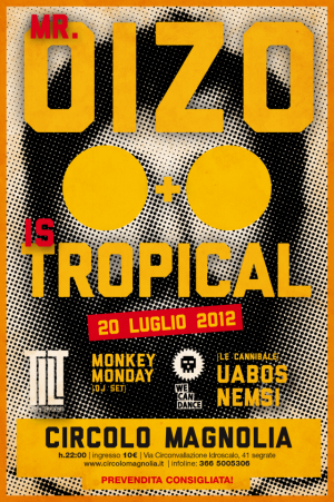 27luglio mroizo hires 01 e1342611434837 MR. OIZO & IS TROPICAL   We Can Dance al Circolo Magnolia