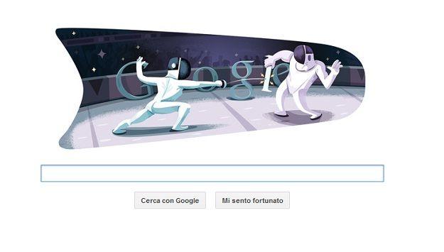 google doodle scherma olimpiadi londra 2012 FENCING TREND   la scherma dalle passerelle alle olimpiadi (e viceversa)