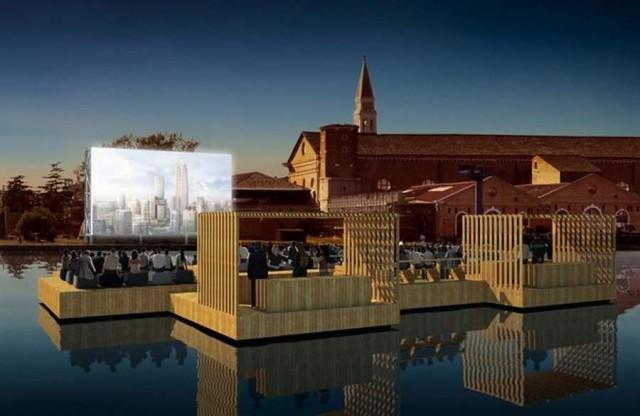 Archipelago Cinema at Venice Biennale by Ole Scheeren 1 640x416 BIENNALE VENEZIA 2012   Architettura condivisa