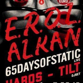 EROL ALKAN & 65 DAYS OF STATIC – 7 settembre al Circolo Magnolia