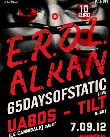 EROL ALKAN & 65 DAYS OF STATIC - 7 settembre al Circolo Magnolia
