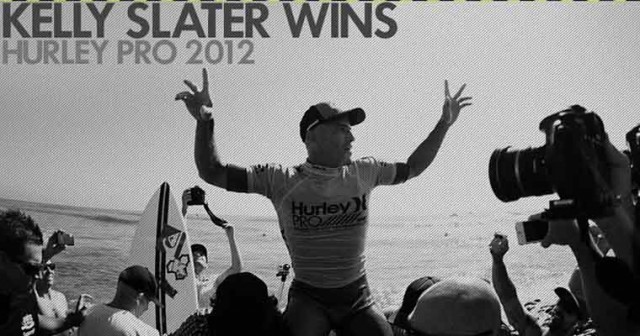 Kelly slater win Hurley Pro 2012 640x336 KELLY SLATER   50 volte il primo surfer! Vince anche lHurley Pro 2012