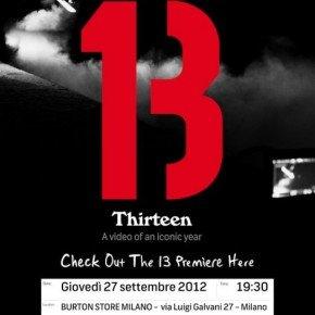 BURTON'S 13 – giovedì la premiere del nuovo snowboard movie