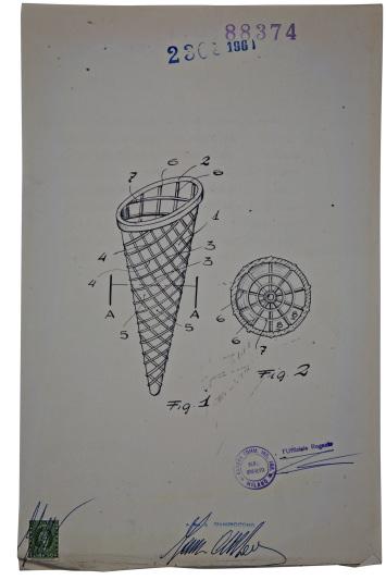 2 brevetto cono gelato PROGETTO CIBO   La forma del gusto
