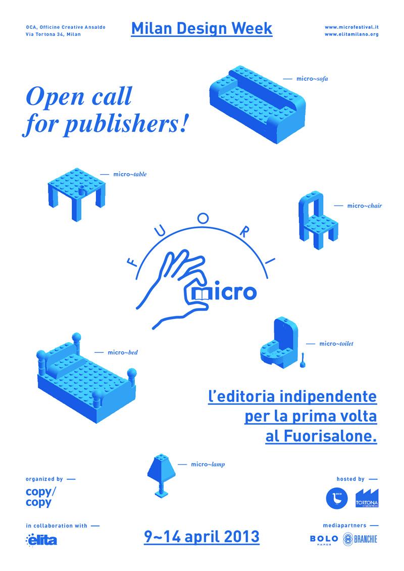 MICRO eflyer 800px EDITORIA AL SALONE   Milano Design Week 2013