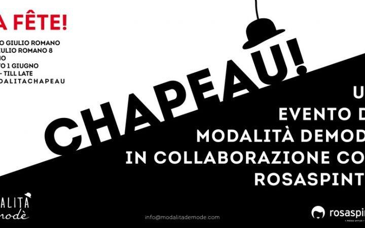 CHAPEAU! - La Fête il 1 giugno allo Spazio Giulio Romano 1