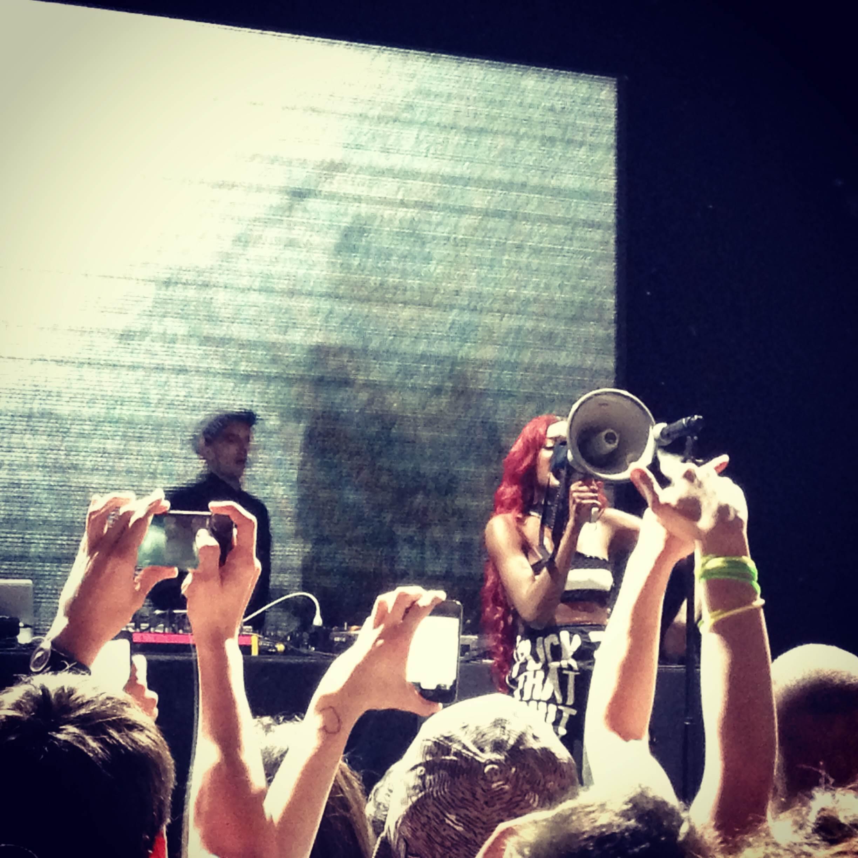 photo AZEALIA BANKS   Live show @Alcatrazmi
