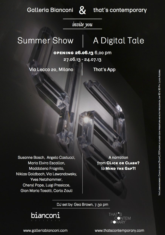 invito summer show web SUMMER SHOW / A DIGITAL TALE   Tra reale e virtuale