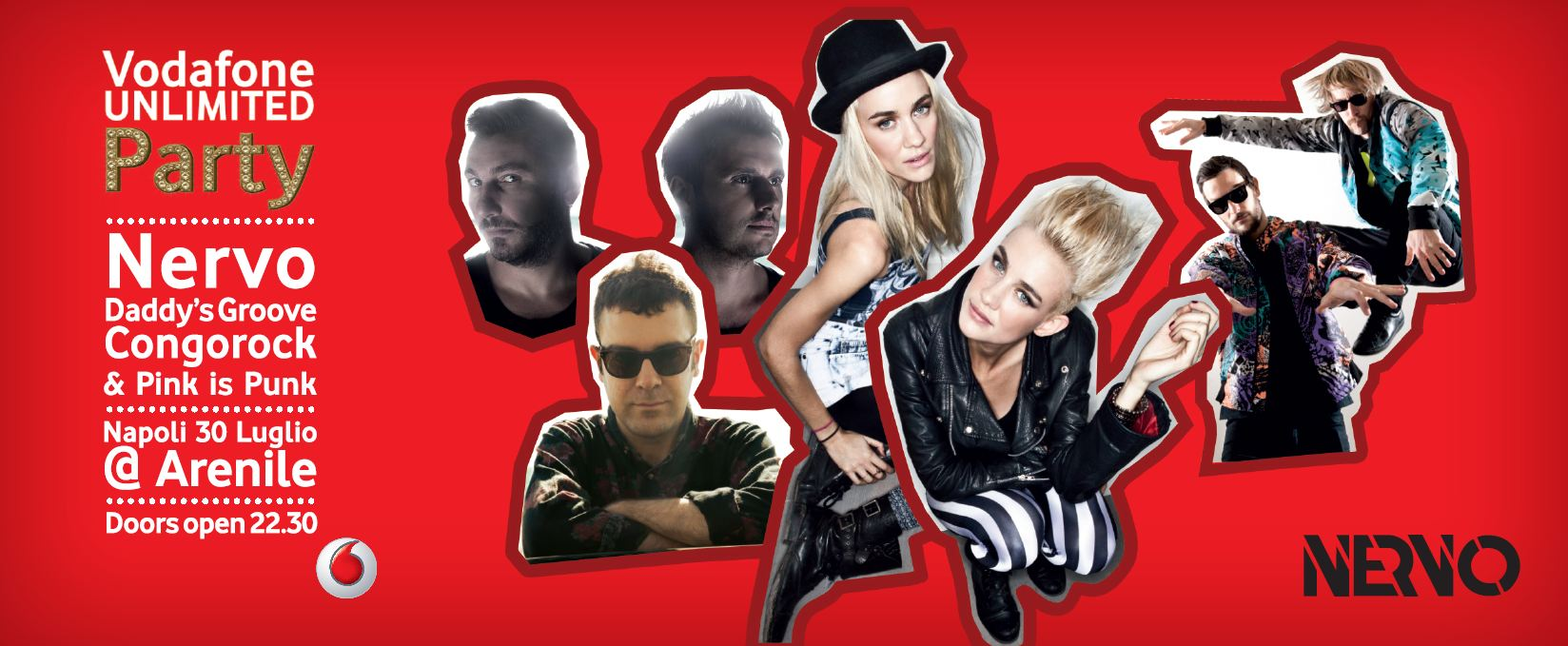 Cattura VODAFONE UNLIMITED PARTY   Nervo live show a Napoli