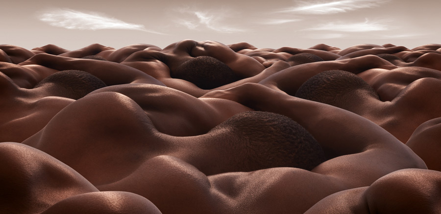 Desert of Sleeping Men1 CARL WARNER   bodyscapes