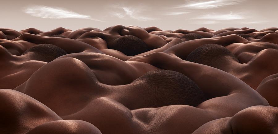 Desert of Sleeping Men1 CARL WARNER   bodyscapes