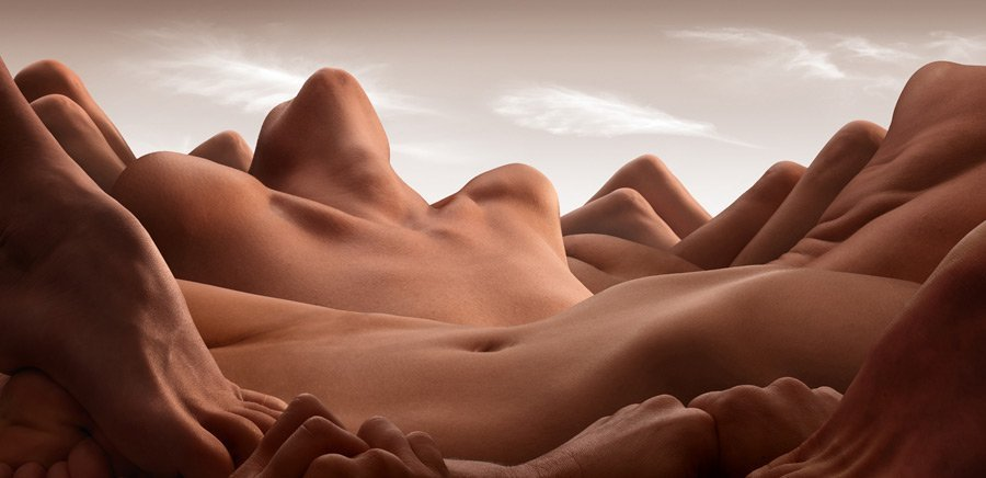Valley of the reclining woman CARL WARNER   bodyscapes