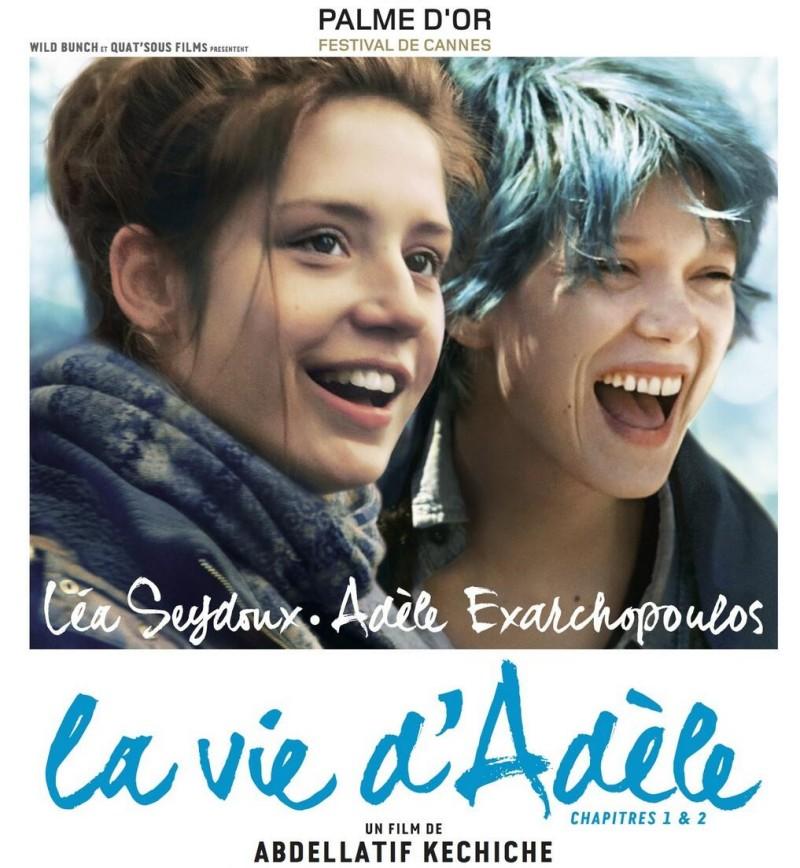PHOTO Le poster officiel de La Vie d Adele e1383135458433 LA VITA DI ADELE   il sesso ( e lamore) tra donne svelato al cinema
