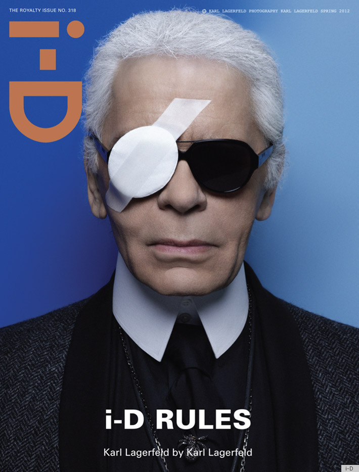 KARL LAGERFELD ON COVER OF ID MAGAZINE SPRING 2012 I D + M.I.A + VICEmedia   un grande debutto
