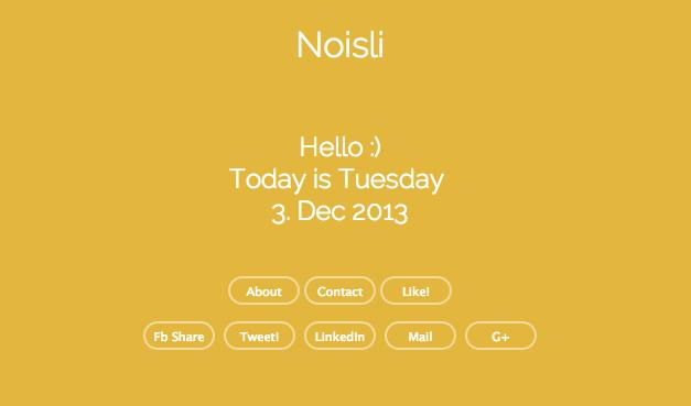 Schermata 2013 12 03 alle 10.01.20 NOISLI   Generatore di relax