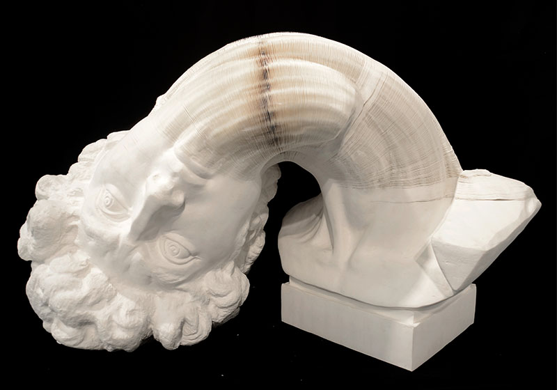 Li Hongbo Bust of David paper 70x50x50cm 2012 2 BUST OF DAVID   Li Hongbo