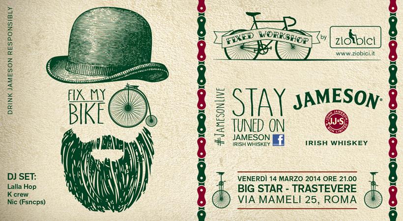 fb FIXMYBIKE post 820x450px 1 JAMESON ST PATRICKS LIVE ROME   Il whiskey che non ti aspetti