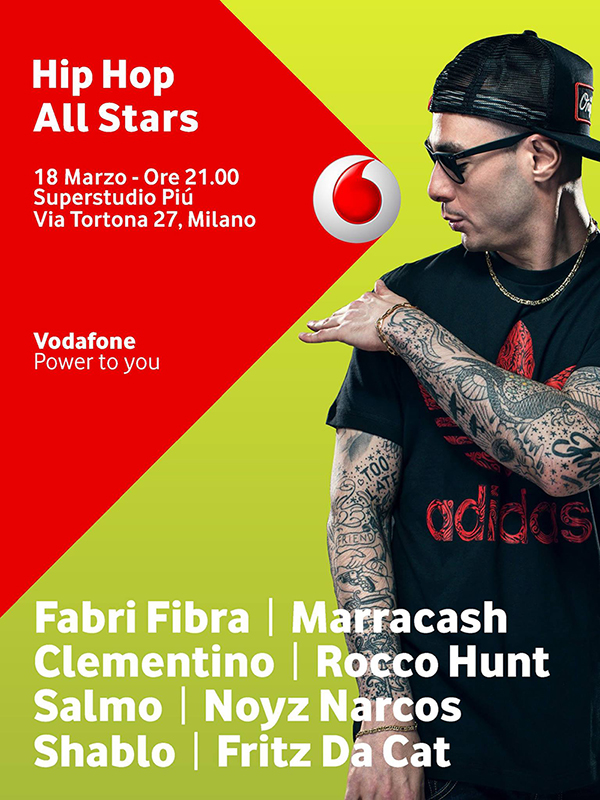 flyer evento HIP HOP ALL STARS   Tutti riuniti al Superstudiopiù YO!
